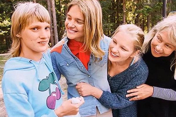 Наталья Водянова с сестрами