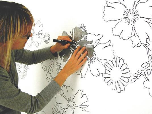 Фото декорирование стен своими руками