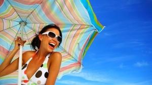 Девушка и зонт