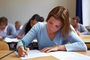 На экзамене