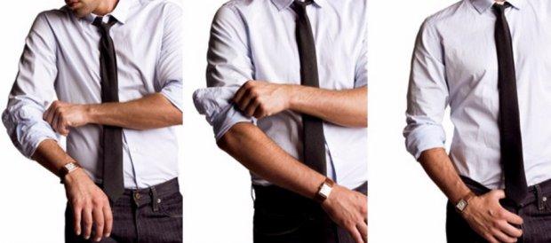 закачивание рукавов в рубашке